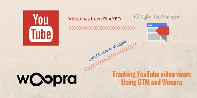 Track YouTube video views in Woopra using GTM