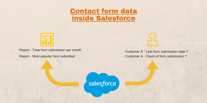 Contact form data inside salesforce