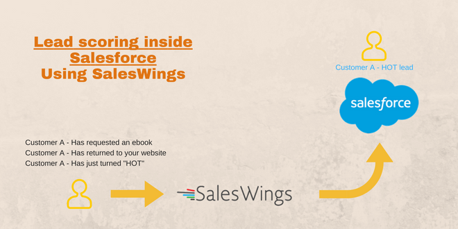 Lead scoring inside salesforce using saleswings