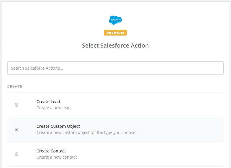 Create Salesforce Zapier Action