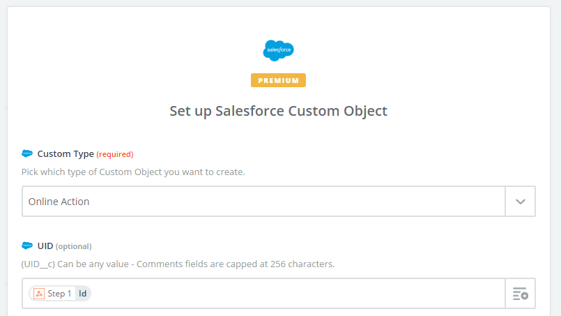 Map Zapier salesforce fields