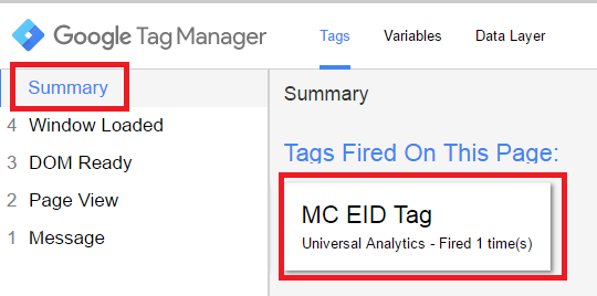 GTM Tag has fired?