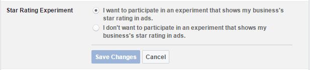 Facebook Star Ratings
