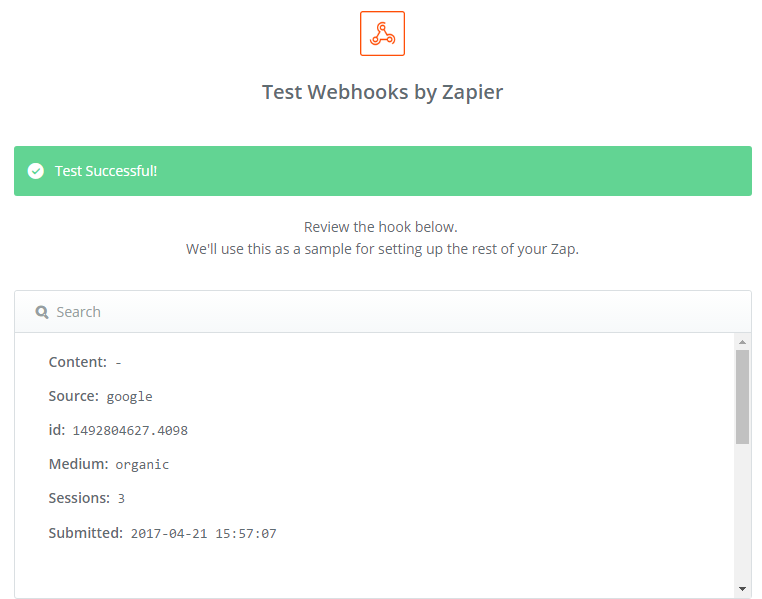 CF7 to Zapier Webhook