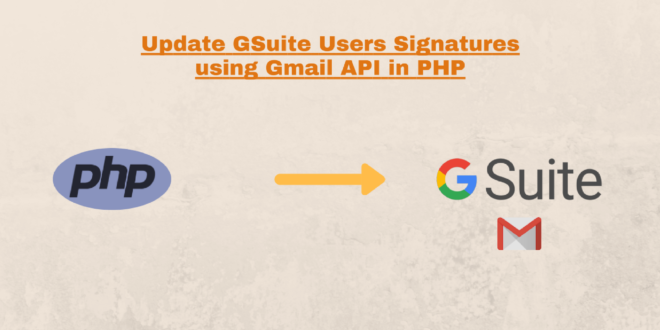 How to use the Gmail API to update Signatures of GSuite users