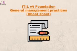 General Management Practices (cheatsheet) – ITILv4