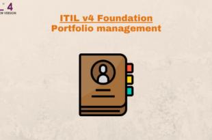 Practice – Portfolio management – ITILv4