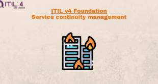Practice – Service continuity management – ITILv4