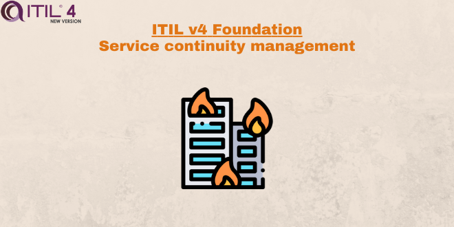 Practice – Service continuity management – ITILv4