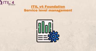Practice – Service level management – ITILv4
