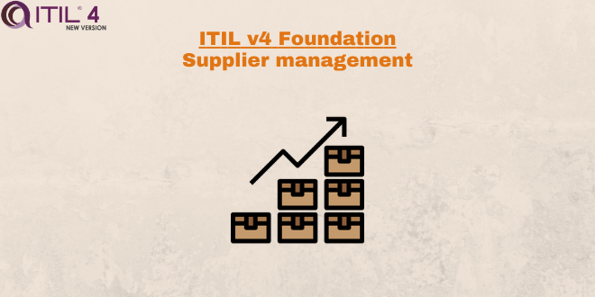 Practice – Supplier management – ITILv4