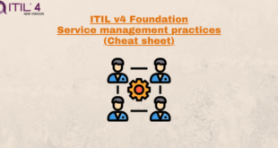 Service Management Practices (cheatsheet) – ITILv4