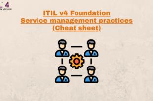 Service Management Practices (cheatsheet) – ITILv4